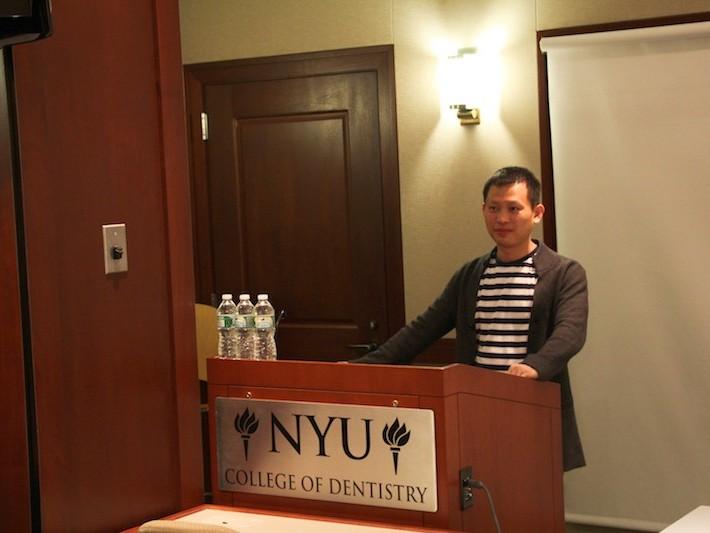 2014年在纽约大学学术交流会议现场